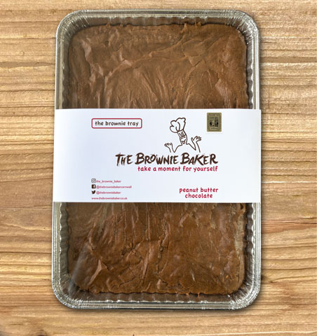 Peanut Butter Chocolate Brownie - Tray Size